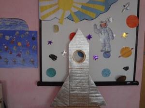 12 по 16  апреля  2021 г.  проходила тематическая неделя в ДОУ «День космонавтики.»